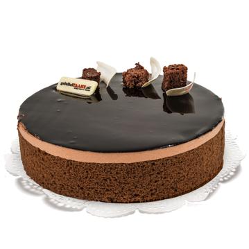 Chocolade-Bavaroise-Taart trouwkaart