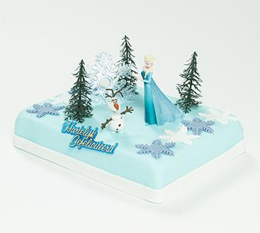 Frozen Elsa marsepeintaart trouwkaart