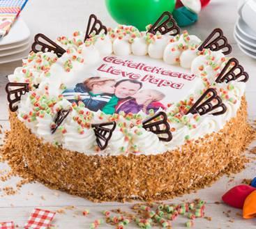 Verjaardagslagroomtaart Rond trouwkaart